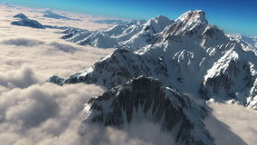 Epic Mountains – Snowy Mountains over clouds stock video