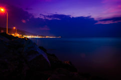 Epic Ocean Sunset Scenery Royalty Free Stock Photos