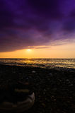Epic Ocean Sunset Scenery Royalty Free Stock Photography