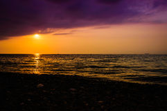 Epic Ocean Sunset Scenery Royalty Free Stock Image