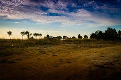 Epic Pastoral Landscape Evening Royalty Free Stock Photo