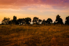 Epic Pastoral Landscape Sunset Royalty Free Stock Photo