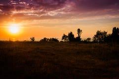Epic Pastoral Landscape Sunset Stock Images