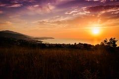Free Epic Pastoral Seascape Sunset Royalty Free Stock Image - 57969126