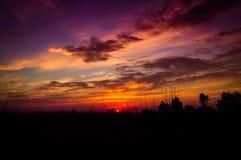 Epic Pastoral Landscape Sunset Stock Photos