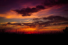 Epic Pastoral Seascape Sunset Royalty Free Stock Photo