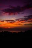 Epic Pastoral Seascape Sunset Stock Photography
