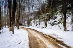 Epic Pastoral Winter Landscape Stock Photos