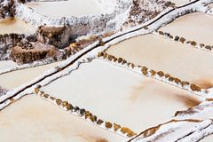 Salt Mines in the Sacred Valley of the Incas royalty free stock image