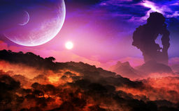 Epic Planet Landscape And Sky stock photo