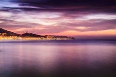 Epic Island Evening Sunset Scenery Royalty Free Stock Images