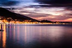 Epic Island Evening Sunset Scenery Stock Photos