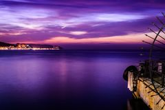 Epic Island Evening Sunset Scenery Royalty Free Stock Photography