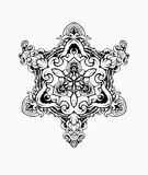 BLACK WHITE ORNAMENT MANDALA stock illustration