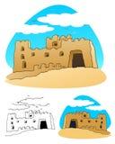 Epic sand castle stock photo