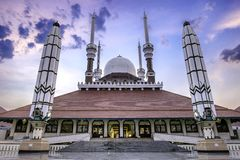 Epic scenery of Great Mosque Of Central Java Royalty Free Stock Image
