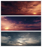 Epic Sky Banners Royalty Free Stock Photography