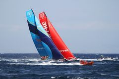 Volvo Ocean Race 2017-18. Epic start of the Volvo Ocean Race 2017-18 and possibly one of the most exciting start we`ve seen from Alicante stock photos