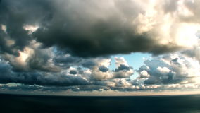 Epic Stormy Time Lapse Clouds Over The Sea