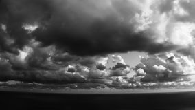 Epic Stormy Timelapse Black White Clouds stock video