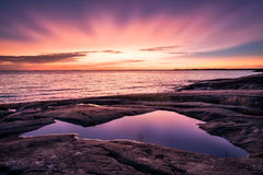 Epic sunset with beautiful color Royalty Free Stock Images
