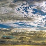 Epic sunset on sky. Epic sunset on blue sky Stock Photos
