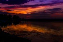 Epic Sunset Coastline Royalty Free Stock Photos