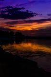 Epic Sunset Coastline Stock Image