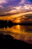 Epic Sunset Coastline Royalty Free Stock Photo