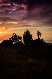 Epic Sunset On Natural Landscape Royalty Free Stock Photography
