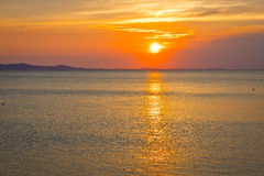 Epic sunset on sea horizon Stock Images