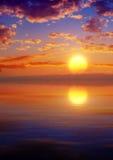 Epic Sunset Sea Stock Photo