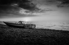 Epic Sunset Seashore Stock Photography