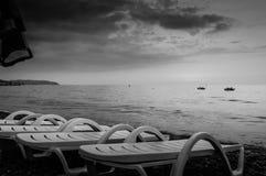 Epic Sunset Seashore Stock Image