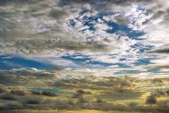 Epic sunset on sky. Epic sunset on blue sky Royalty Free Stock Images