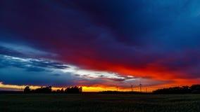 Epic Sunset Timelapse UHD - Panning stock video footage