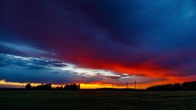 Epic Sunset Timelapse UHD - Zoom Out stock video footage