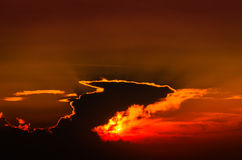 Epic Suset Sky With Majestic Clouds Royalty Free Stock Images