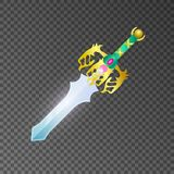 Epic sword isolated game element Stock Photography