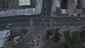 Epic time lapse of a bussy street trafic 4K. IN Riga stock footage
