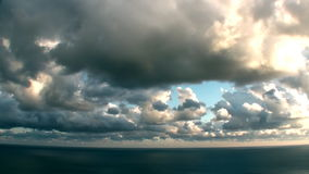 Epic Timelapse Stormy Sea Clouds Video stock video