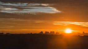 Epic urban sunrise stock video