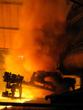 Epic view of blast furnace smoke dust (metal fire technology) Stock Images