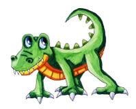 Epic Watercolor Crocodile stock illustration