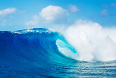 Epic Waves, Perfect Surf. Blue Ocean Wave, Epic Surf Royalty Free Stock Photos