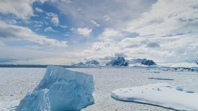Epic winter antarctica continent landscape photo stock footage