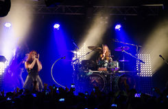 Epica band performs in Italy Stock Photography