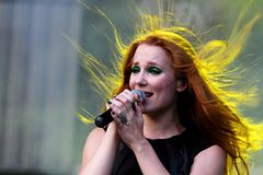 Epica at Masters of Rock 2010. Epica at Masters of Rock festival in Czech republic, summer 2010 Stock Images