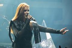 Epica in Prag 2017 Lizenzfreie Stockfotos