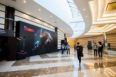 EPICENTRUM MOSKWA Dota 2 cybersport wydarzenie może 13 Krokusa urząd miasta obraz stock